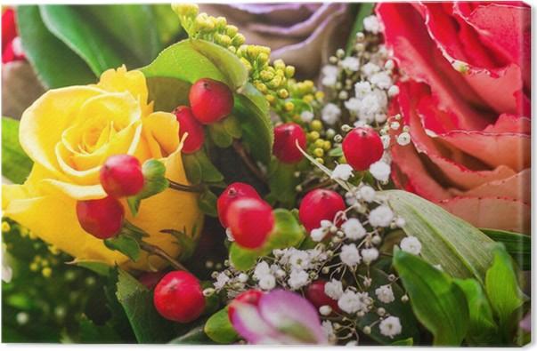 Quadro su Tela Mazzo di fiori, bouquet auguri • Pixers® - Viviamo ...