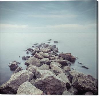 Quadro su Tela Minimalista paesaggio nebbioso. Ucraina.