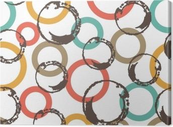 Quadro su Tela Modello vettoriale senza soluzione di continuità con cerchi colorati.