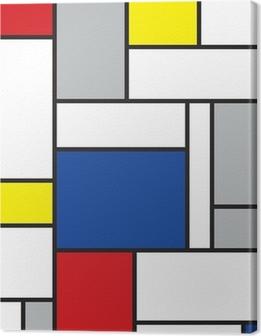 Quadro su Tela Mondrian arte contemporanea