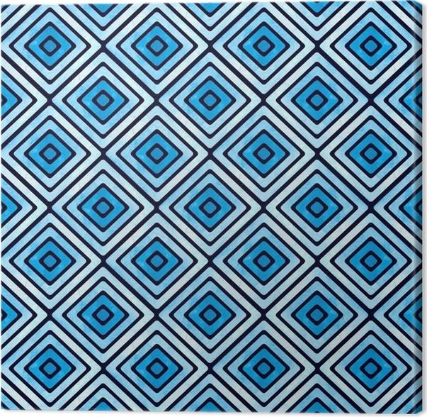 Quadro Su Tela Motivo Geometrico Blu Senza Soluzione Di Continuità