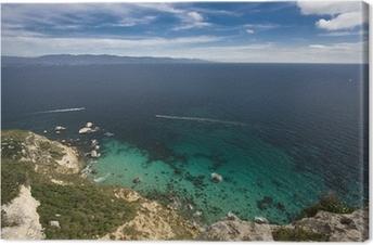Quadro su Tela Motoscafo vela nel Golfo di Cagliari, Sardegna