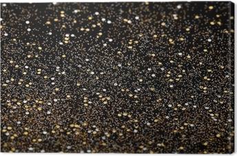 Quadro su Tela Natale Capodanno Gold Glitter Vacanza sfondo trama