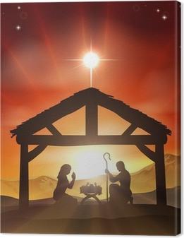 Quadro su Tela Natività cristiana Natale Scena