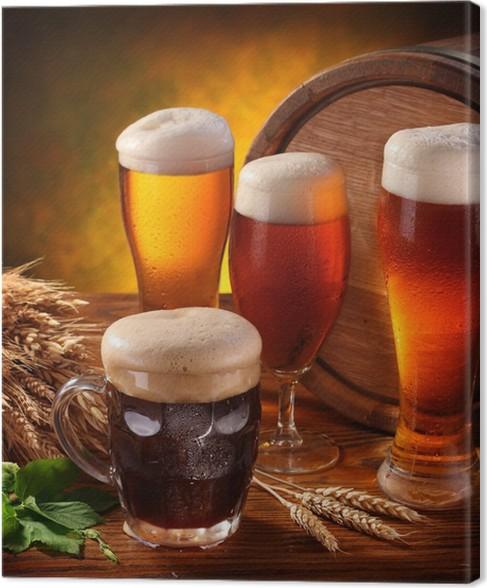 Quadro su Tela Natura morta con un barilotto di birra • Pixers ...