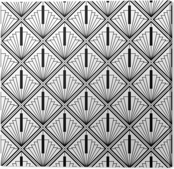 Quadro su Tela Nero art deco monocromatico senza cuciture nero arabo
