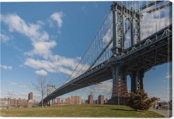 Quadro su tela new york manhattan bridge da brooklyn u2022 pixers