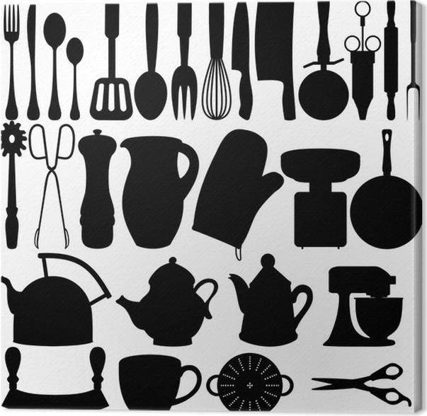 Quadro su Tela Oggetti da cucina • Pixers® - Viviamo per il cambiamento