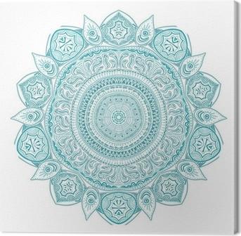 Quadro su Tela Ornamentale pizzo rotondo, cerchio sfondo con molte detai