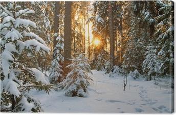Quadro su Tela Paesaggio invernale