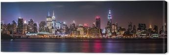 Quadro su Tela Panorama di Manhattan durante la Orgoglio Weekend