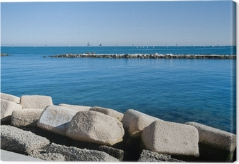 Quadro su Tela Panoramic view of Bari. Apulia.