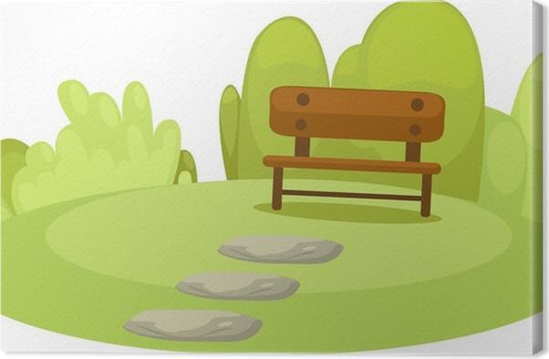 Quadro su tela park piccolo cartone animato pixers