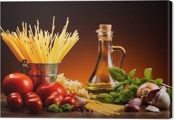 Quadro su Tela Pasta e verdure fresche