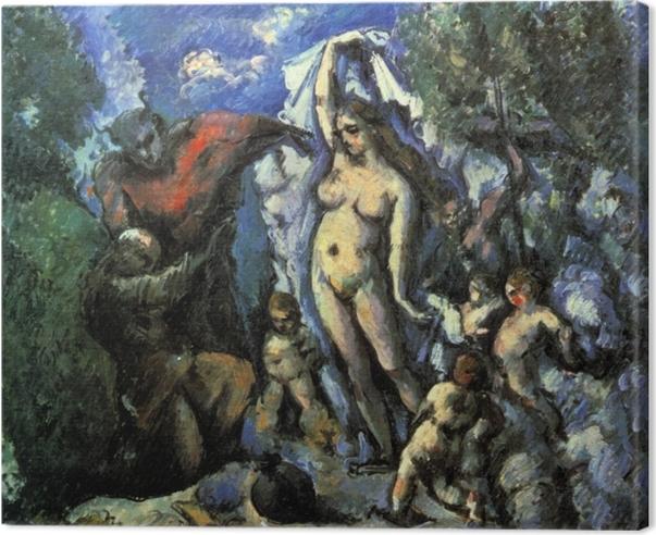 Quadro su Tela Paul Cézanne - La tentazione di Sant'Antonio - Riproduzioni