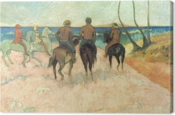 Quadro su Tela Paul Gauguin - Riders on the Beach
