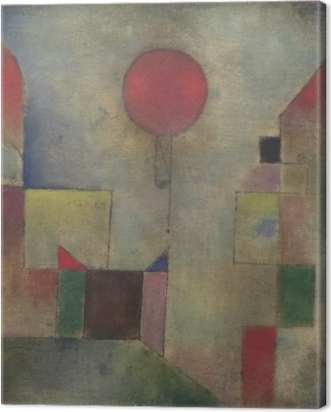 Quadro su Tela Paul Klee - Red Baloon - Riproduzioni