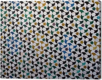 Quadro su Tela Piastrelle colorate, dallo stile arabo nel Alhambra, Granada