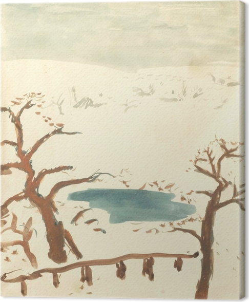 Quadro su Tela Pierre Bonnard - Paesaggio invernale - Reproductions