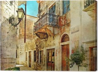 Quadro su Tela Pittoriche antiche strade della Grecia