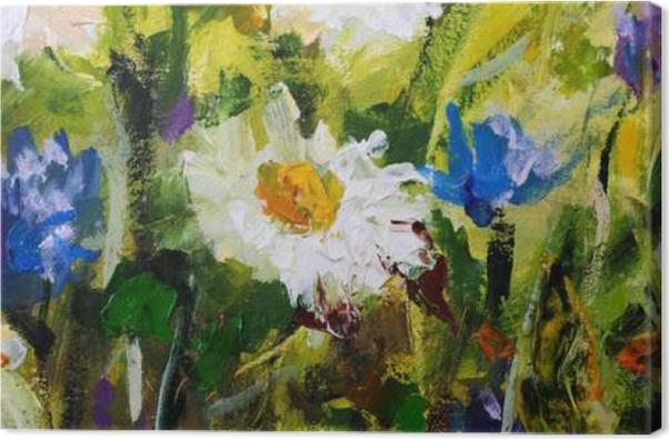 Quadro su Tela Pittura a olio originale di fiori, belli fiori di ...