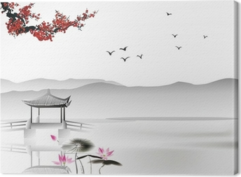 Quadro su Tela Pittura cinese