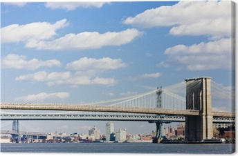 Quadro su tela ponte di brooklyn e manhattan bridge new york city