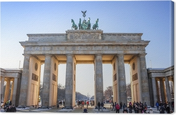 Quadro su Tela Porta di Brandeburgo a Berlino, Germania