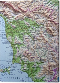 Cartina Stradale Toscana Dettagliata.Quadri Su Tela Cartina Geografica Pixers Viviamo Per Il Cambiamento