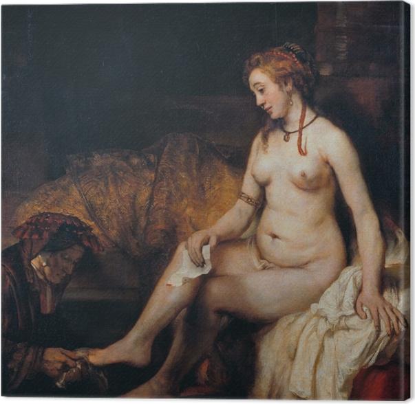 Quadro su Tela Rembrandt - Bathseba al bagno - Riproduzioni