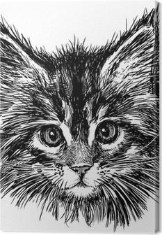Quadro su Tela Ritratto di gatto