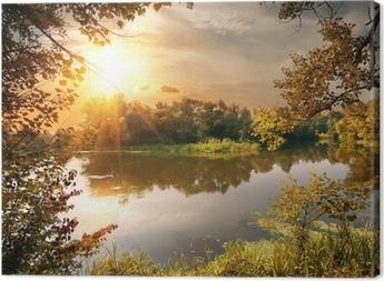 Quadro su Tela River in ottobre