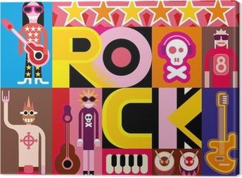 Quadro su Tela Rock and roll