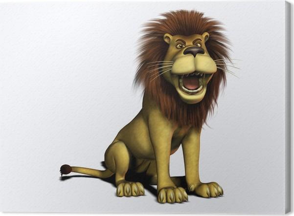 Quadro su tela ruggente cartone animato lion u2022 pixers® viviamo per