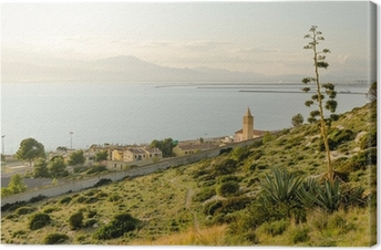 Quadro su Tela Sardegna, Cagliari, panorama del Capo Sant'elia