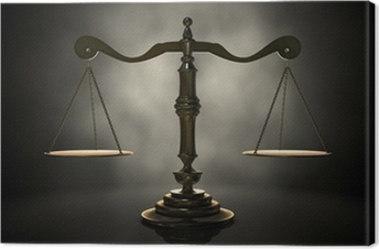 Quadro su Tela Scale di giustizia