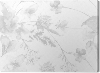 Quadro su Tela Seamless pattern con fiori