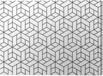 Quadro su Tela Seamless pattern geometrici con cubetti.