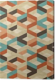 Quadro su Tela Seamless retro pattern geometrico.