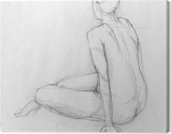 Quadri su Tela Nudo Donna Seduta • Pixers® - Viviamo per il cambiamento