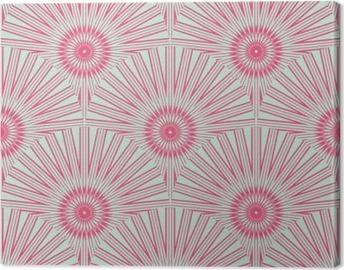 Quadro su tela senza soluzione di piastrelle con fiori di tarassaco