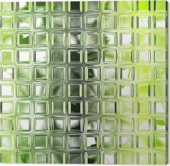 Quadro Su Tela Senza Soluzione Di Piastrelle Di Vetro Verde Texture Di  Sfondo Cucina O With Soluzioni No Piastrelle Cucina