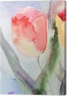 Quadri su Tela Acquerelli tulipani • Pixers® - Viviamo per il ...