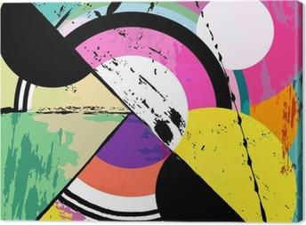 Quadro su Tela Sfondo astratto cerchio, con colpi di vernice