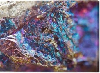 Quadro su Tela Sfondo astratto da un minerale metallico.