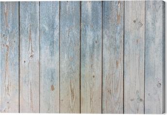 Quadro su Tela Sfondo blu d'epoca in legno