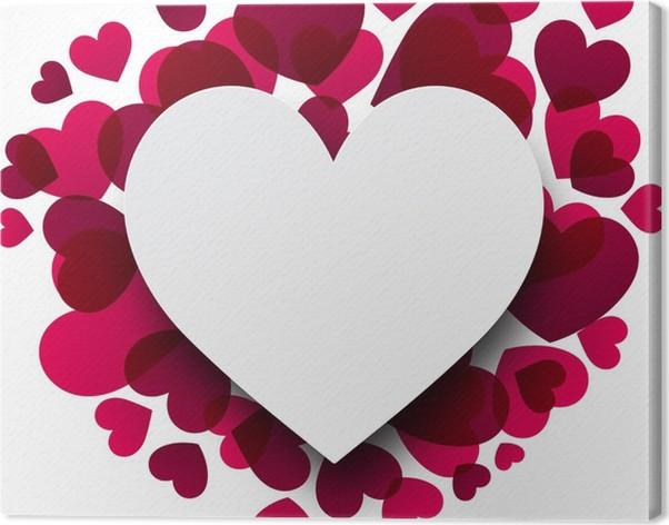 Quadro su Tela Sfondo di San Valentino con cuori rosa. • Pixers ...