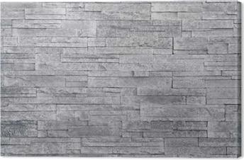 Quadro su Tela Sfondo grigio muro di pietra. piastrelle di pietra impilati  vengono spesso utilizzati 165574ee46b9