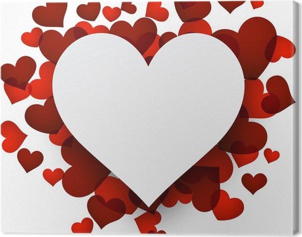 Quadro su Tela Sfondo San Valentino con cuori rossi. • Pixers ...