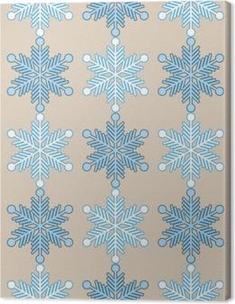 Quadro su Tela Sfondo trasparente con i fiocchi di neve. Stampare. Ripetendo sfondo. disegno stoffa, carta da parati.